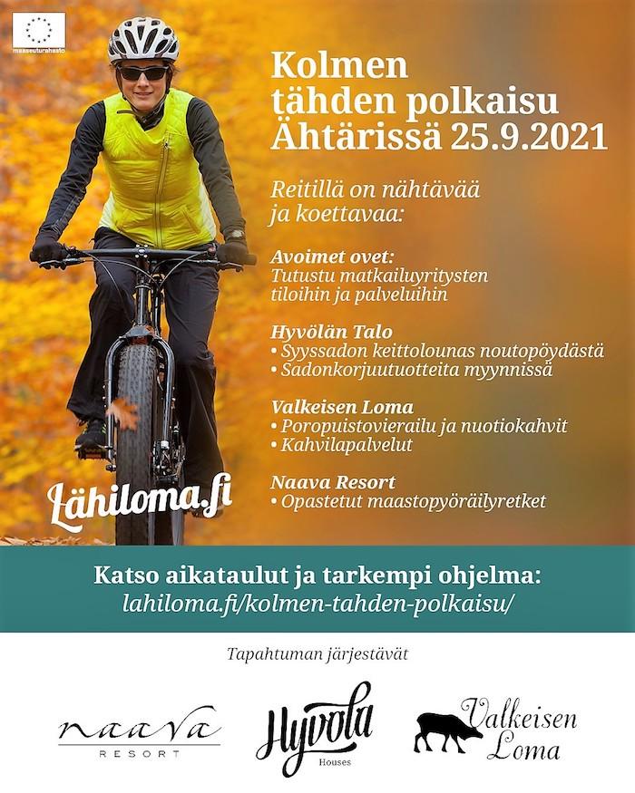 Kolmen tähden pyöräily_Ähtäri